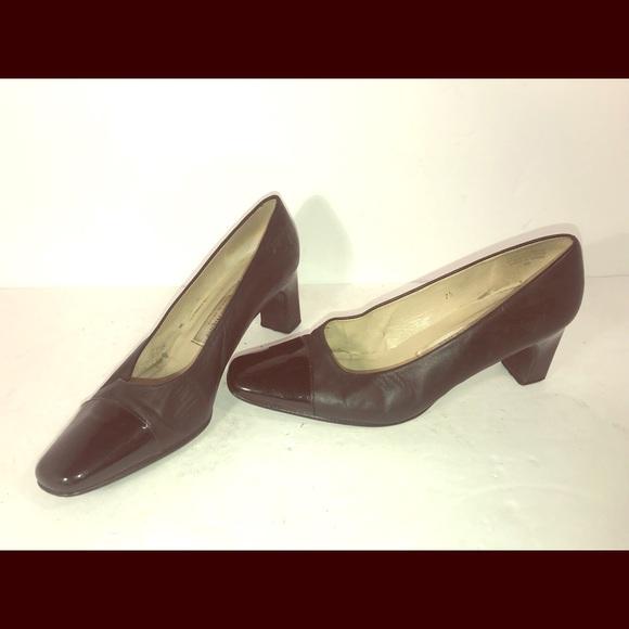 59dc5af818 Etienne Aigner Shoes | Black Leather Womens Heels 75 | Poshmark